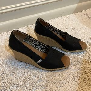 Toms Wedges, 8, Black